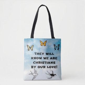 Tote Bag Ils sauront que nous sommes des chrétiens par