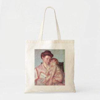 Tote Bag Impressionisme vintage, bébé somnolent par Mary