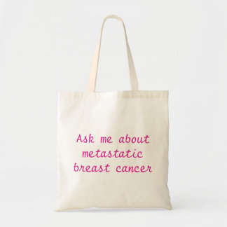 Tote Bag Interrogez-moi au sujet du cancer du sein
