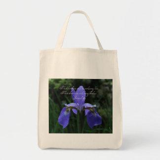 Tote Bag Iris de bleu royal de 31:3 de Jérémie