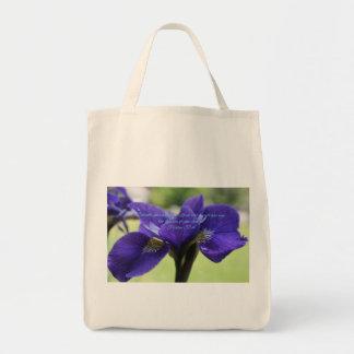 Tote Bag Iris de bleu royal de 37:4 de psaume