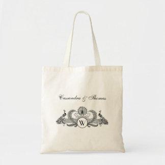Tote Bag Ivoire vintage BG de monogramme de paons