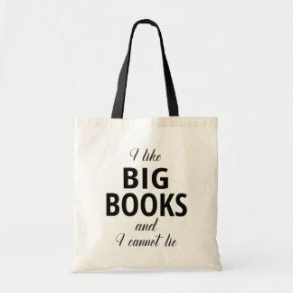 Tote Bag J'aime de grands livres et je ne peux pas me
