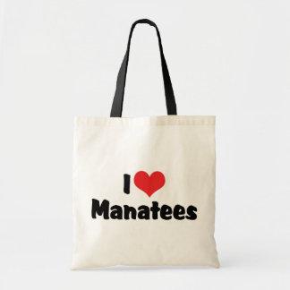 Tote Bag J'aime des lamantins de coeur
