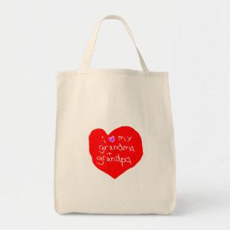 Tote Bag J'aime la grand-maman et le grand-papa