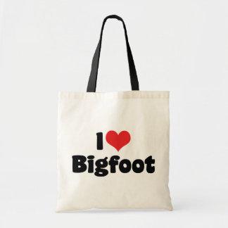 Tote Bag J'aime le yeti de Bigfoot Sasquatch de coeur
