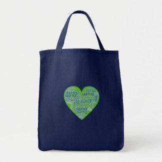 Tote Bag J'aime Seattle dans des couleurs de Seattle