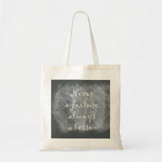 Tote Bag Jamais un échec, toujours une leçon