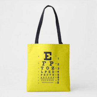 Tote Bag Jaune de diagramme d'oeil de style d'art de bruit