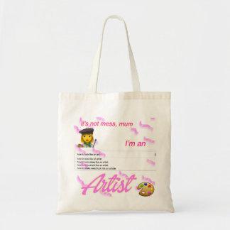 Tote Bag je suis une maman d'artiste