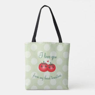 Tote Bag Je t'aime de mon calembour drôle de fruit de