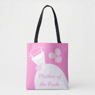 Tote Bag Jeune mariée de mère de rose de robe de mariage