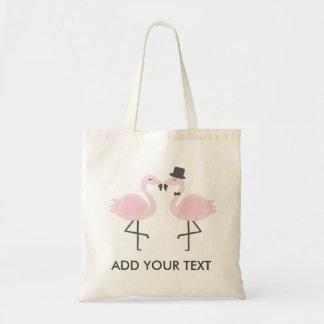 Tote Bag Jeune mariée mignonne de flamant et texte fait sur