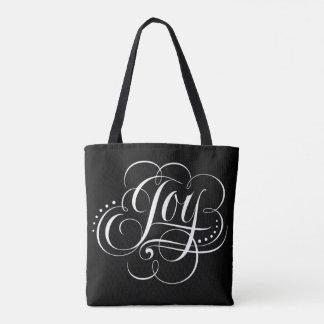 Tote Bag Joie de fantaisie à la calligraphie de Noël du