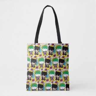Tote Bag Joker de Chibi et motif de carte de jeu de Batman