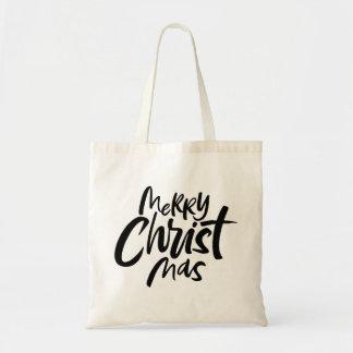 Tote Bag Joyeuse inscription chrétienne de Noël religieuse