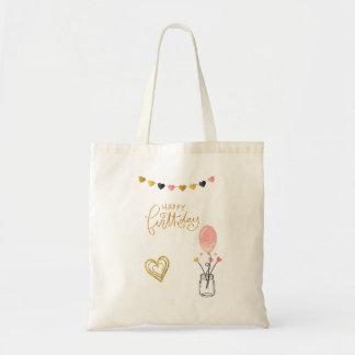 Tote Bag Joyeux anniversaire pour elle