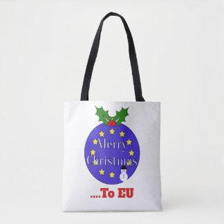 """Tote Bag """"Joyeux Noël. Noël d'UE à"""" Brexit"""