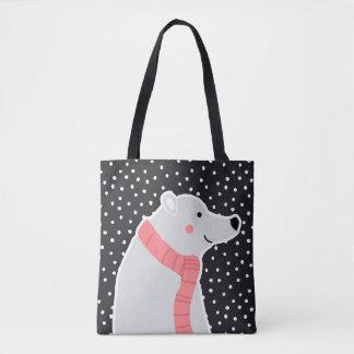 Tote Bag Joyeux Noël - ours blanc