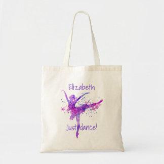 Tote Bag Juste ballet de danse pourpre et rose