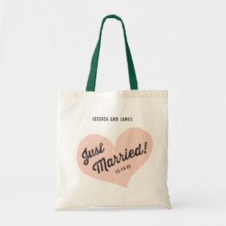 Tote Bag Juste rétro coeur marié