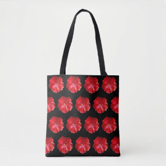 Tote Bag Ketmie rouge Fourre-tout tropical