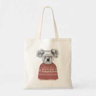 Tote Bag Koala d'hiver (rouge)