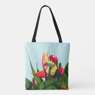 Tote Bag La banane tropicale de toucan part du bouquet