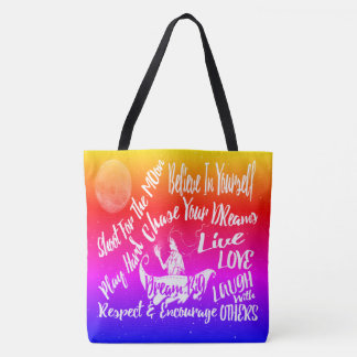 Tote Bag La citation de motivation inspirée tient le