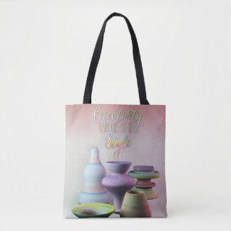 Tote Bag La créativité de poterie d'aquarelle ne sort