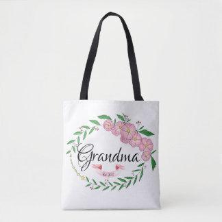 Tote Bag La grand-maman personnalisée a établi la guirlande