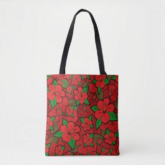 Tote Bag La ketmie fleurit le rouge