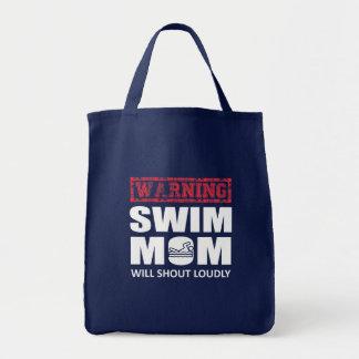 Tote Bag La maman de natation criera fort chemise mignonne