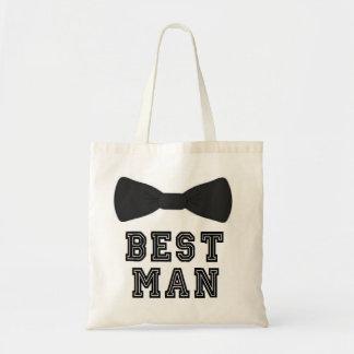 Tote Bag La meilleure cravate d'arc de garçons d'honneur de