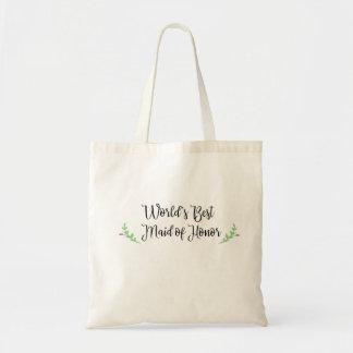 Tote Bag La meilleure domestique du monde de l'honneur