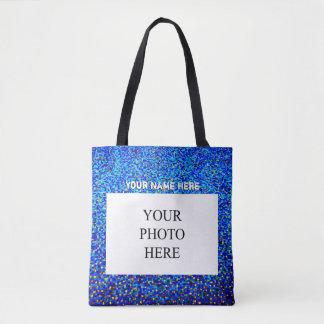 Tote Bag La photo faite sur commande et appellent | bleu et