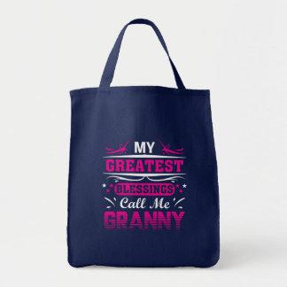 Tote Bag La plus grande bénédiction m'appellent mamie de