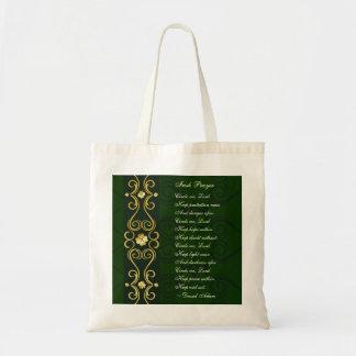 Tote Bag La prière irlandaise, m'entourent seigneur,