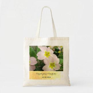 Tote Bag La primevère rose-clair fleurit le mariage fait