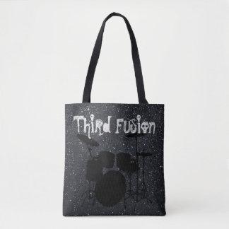 Tote Bag La troisième fusion bat du tambour du noir/du gris