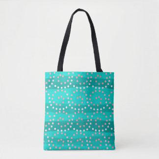 Tote Bag La turquoise et le corail ondule tout plus de -