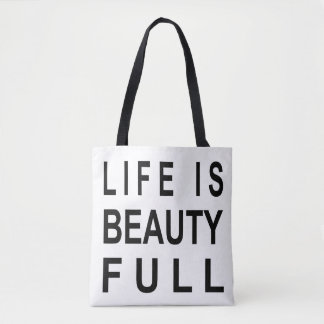 Tote Bag La vie INSPIRÉE MODERNE de CITATION est beauté