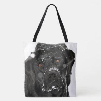 Tote Bag Labrador noir - globe de neige