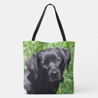 Tote Bag Labrador noir - journée de printemps
