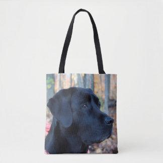 Tote Bag Labrador noir - lueur d'automne