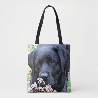 Tote Bag Labrador noir - prenez du temps