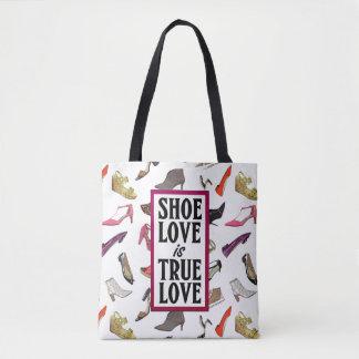 Tote Bag L'amour de chaussure est conception à la mode de