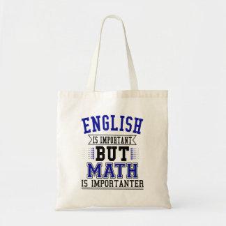 Tote Bag L'anglais est important mais les maths sont