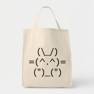 Tote Bag Lapin d'ASCII (avant)