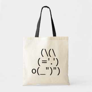 Tote Bag Lapin d'ASCII (côté)